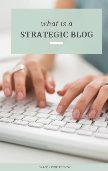 What is a strategic blog? Pinterest graphic