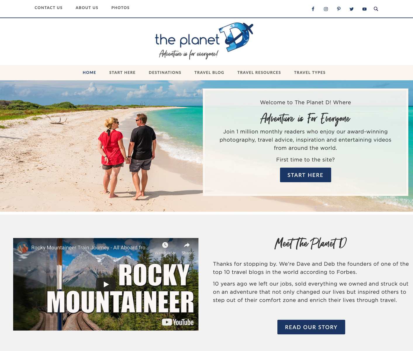 the planet d custom web design