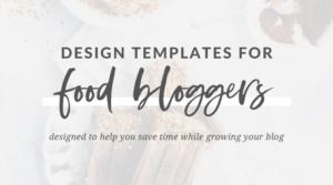 Grace & Vine Design Template Shop for Food Bloggers