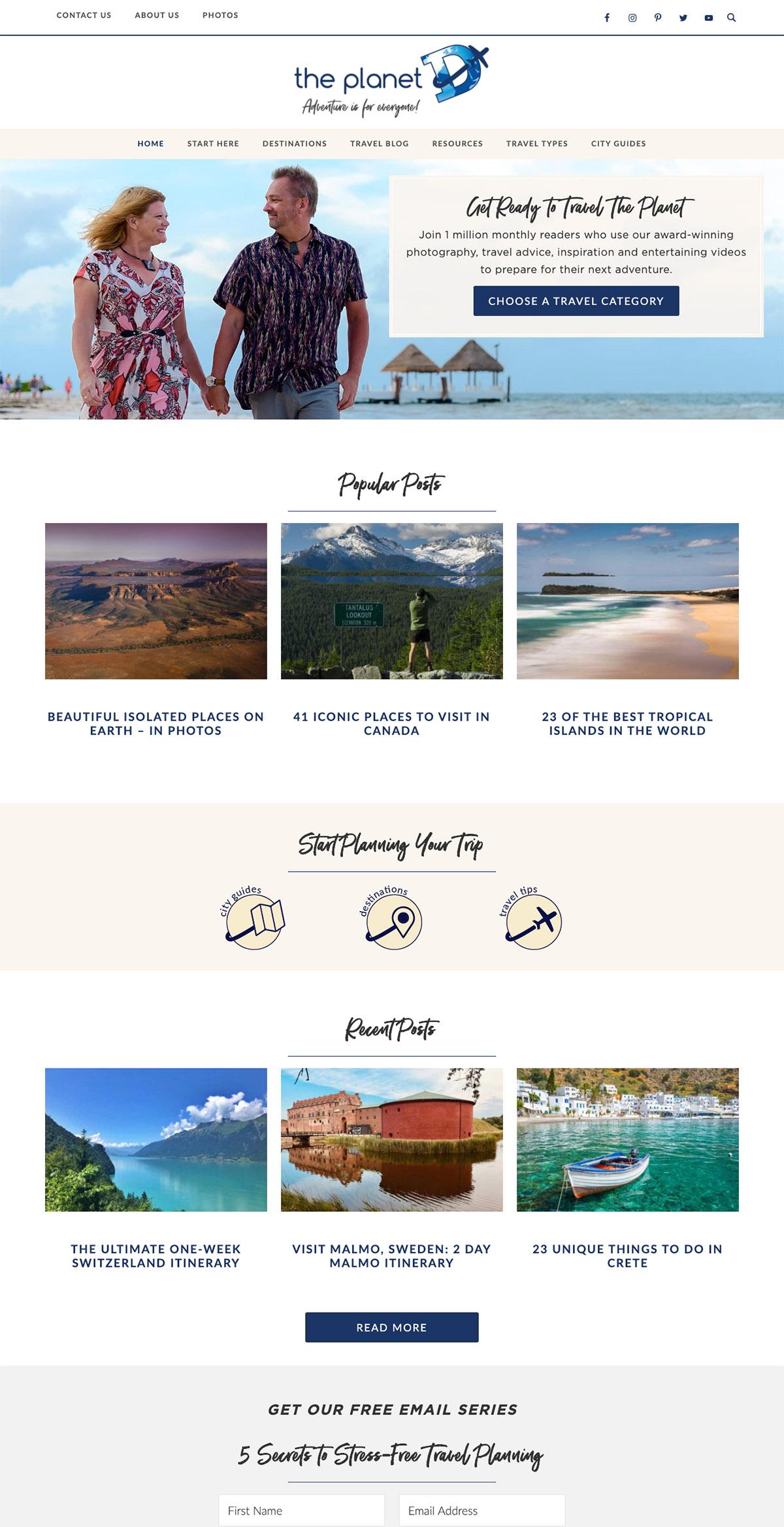 theplanetd-travel-blog-web-design
